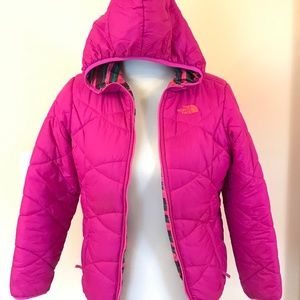The North Face Girl reversible puffer jacket SizeL